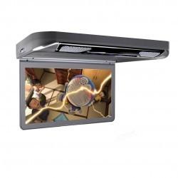 """Pantalla de techo HD 1080p Xtrons 13,3"""" con luz DVD HDMI SD USB y altavoces"""