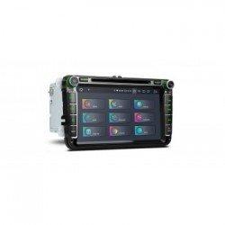 "Navegador Android 9.0 LCD Táctil 8"" 4K VW Seat y Skoda 4GB RAM 64Gb ROM Hexa-Core CarPlay HDMI"